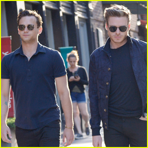 Richard Madden Grabs Dinner with Brandon Flynn in NYC