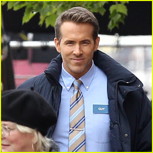 Ryan Reynolds Is All Smiles on the Set of 'Free Guy' in Boston