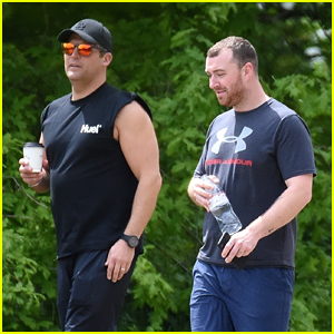 Sam Smith Goes for a Hike with His Trainer