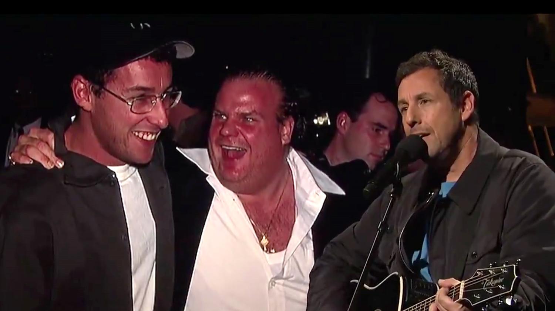 Adam Sandler Sings Moving Song About Chris Farley on 'SNL