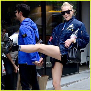 Sophie Turner Does a Kick While Out With Joe Jonas in NYC!