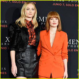 Sophie Turner & Jessica Chastain Meet the Press at 'Dark Phoenix' Event in Mexico