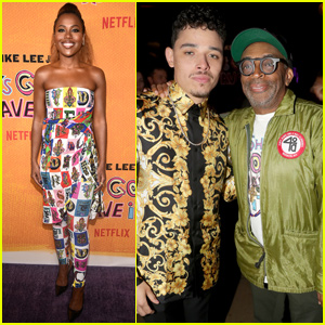 Spike Lee Joins 'She's Gotta Have It' Stars DeWanda Wise & Anthony Ramos at Season 2 Premiere