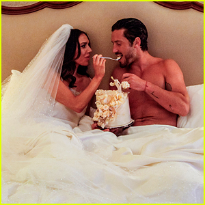 DWTS' Val Chmerkovskiy & Jenna Johnson Pose for Stunning Newlyweds Shoot!
