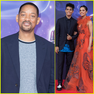 Will Smith Joins Mena Massoud & Naomi Scott at 'Aladdin' Premiere in Berlin
