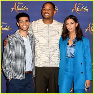 Will Smith, Mena Massoud, & Naomi Scott Team Up for 'Aladdin' Photo Call in London