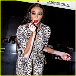 Winnie Harlow Drops By M∙A∙C's Times Square Store to Surprise Employees