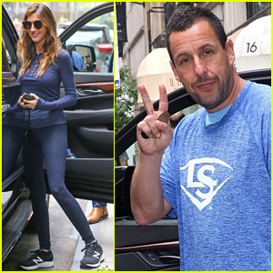 Adam Sandler & Wife Jackie Step Out After 'Murder Mystery