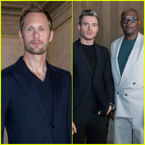 Alexander Skarsgard Joins Richard Madden & Samuel L. Jackson at Armani Fashion Show