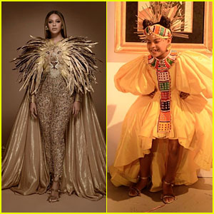 Beyonce & Blue Ivy Channel 'The Lion King' for Wearable Art Gala 2019!