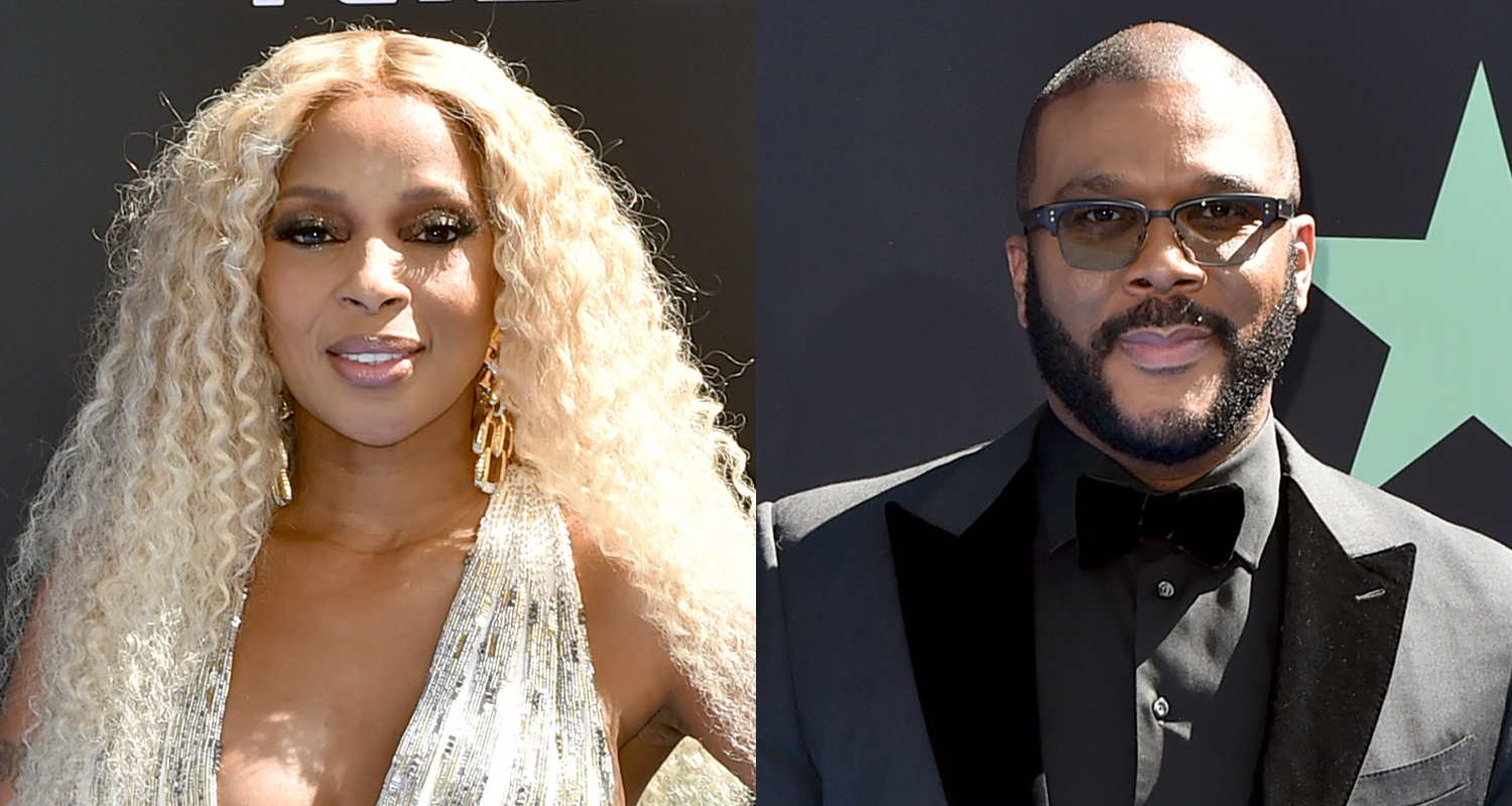 Mary J Blige Amp Tyler Perry Arrive At Bet Awards 2019