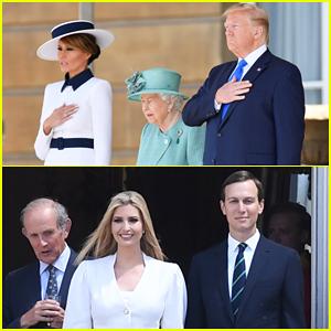 Donald & Ivanka Trump Meet with Queen Elizabeth II at Buckingham Palace!