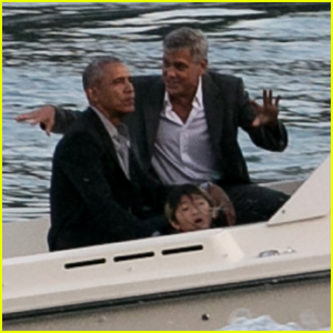 George Clooney & Barack Obama Hang Out Together in Italy!