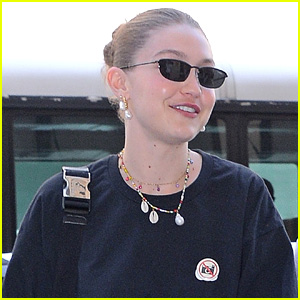 Gigi Hadid Wears 'No Photos' Sticker While Out In NYC