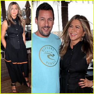 Jennifer Aniston Joins Adam Sandler at 'Murder Mystery' Photo Call