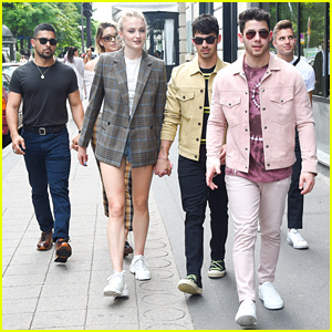 Joe Jonas & Sophie Turner Are Joined By Nick Jonas & Friends For Sunday Funday