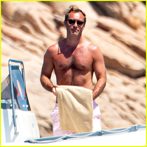 Jude Law Goes Shirtless on Honeymoon, Gives Off 'Talented Mr. Ripley' Vibes!