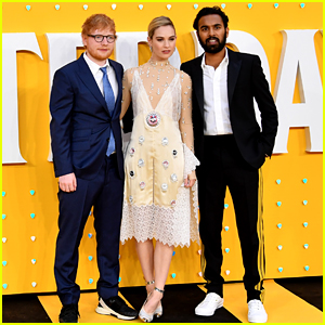 Ed Sheeran Joins Himesh Patel & Lily James at 'Yesterday' Premiere in London