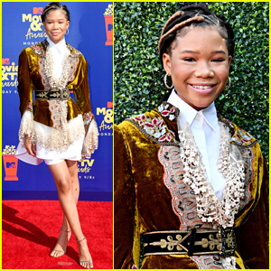 Storm Reid Flashes a Smile Arriving at MTV Movie & TV Awards 2019