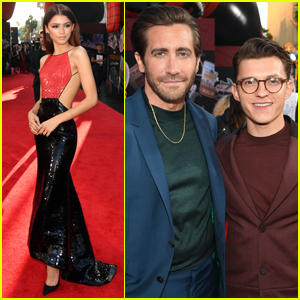 Zendaya, Jake Gyllenhaal, & Tom Holland Step Out for 'Spider-Man: Far From Home' Premiere!