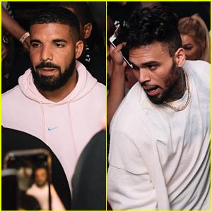 Drake Chris Brown Party At Miami Club While Shooting No