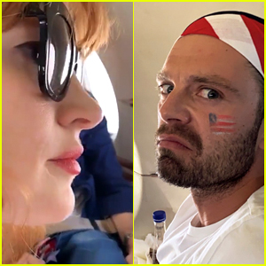 Jessica Chastain Does Sebastian Stan's Face Makeup Ahead of Women's World Cup Final!