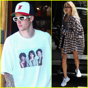 Justin Bieber Sports Jonas Brothers Shirt During Day Out with Hailey!