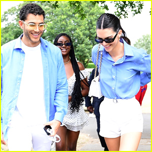 Kendall Jenner & Fai Khadra Wear Matching Outfits To Wimbledon Final