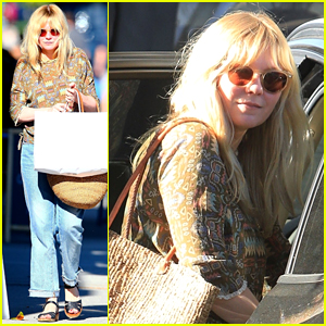 Kirsten Dunst Sports Printed Top for WeHo Shopping Trip