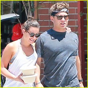 Lea Michele & Zandy Reich Grab Lunch in Santa Monica