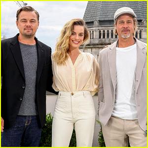 Leonardo DiCaprio, Margot Robbie & Brad Pitt Do More Press in London!