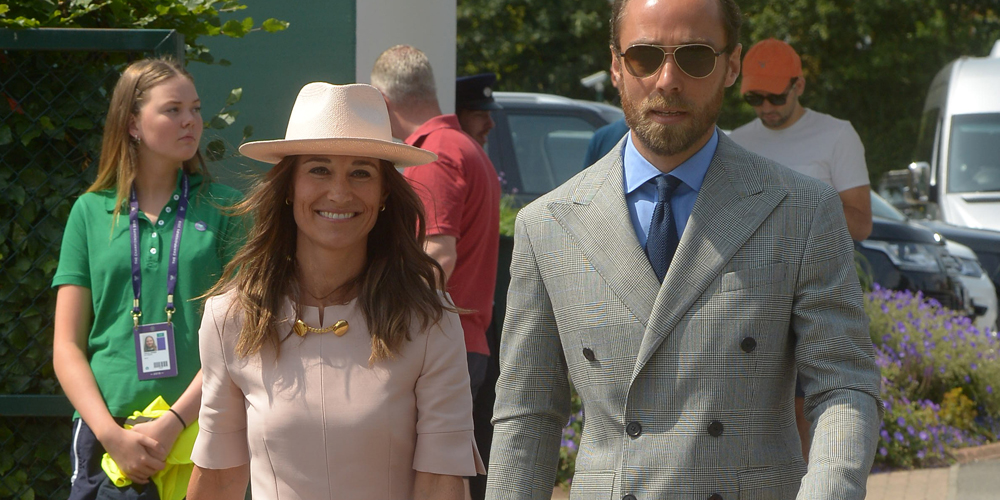 Pippa Middleton Is Pretty In Pink At Wimbledon 2019