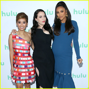 Shay Mitchell Shows Off Baby Bump at Hulu Upfronts 2019 With 'Dollface' Cast