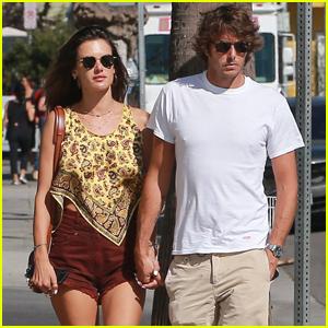 Alessandra Ambrosio & Boyfriend Nicolo Oddi Couple Up For Afternoon Shopping in Venice