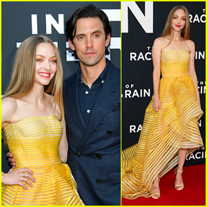 Amanda Seyfried & Milo Ventimiglia Are Joined by Dogs at 'Art of Racing in the Rain' Premiere