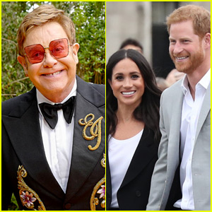 Elton John Defends Prince Harry & Meghan Markle Taking a Private Jet to His France Residence