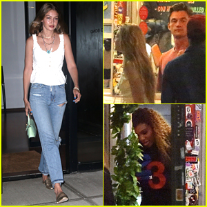 Gigi Hadid Brings Tyler Cameron to Dinner with Serena Williams