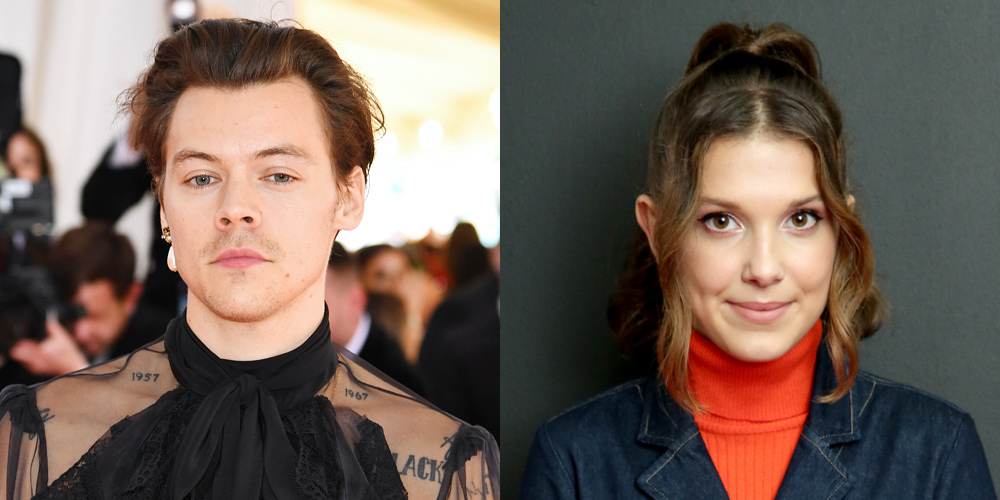 Harry Styles Millie Bobby Brown Have Fun Dancing At Ariana