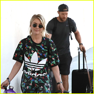 Julianne Hough Catches a Flight with Husband Brooks Laich