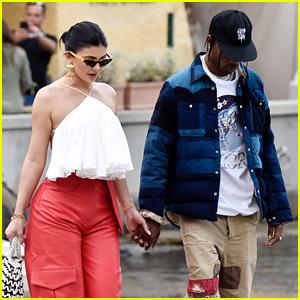 Kylie Jenner & Travis Scott Go Shopping During Her Birthday Trip in Italy