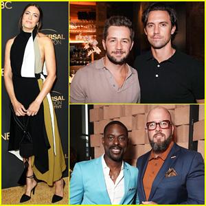Mandy Moore, Milo Ventimiglia & More Celebrate Emmy Nominees at NBC & Universal Mixer!