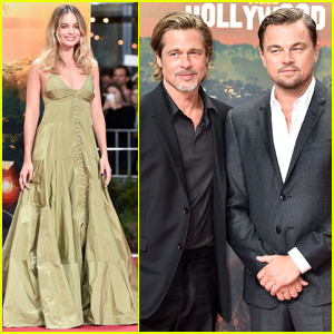 Margot Robbie Joins Brad Pitt & Leonardo DiCaprio at 'Once Upon a Time in Hollywood' Premiere in Berlin