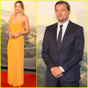 Margot Robbie & Leonardo DiCaprio Join Quentin Tarantino at 'Once Upon a Time in Hollywood' Premiere in Rome
