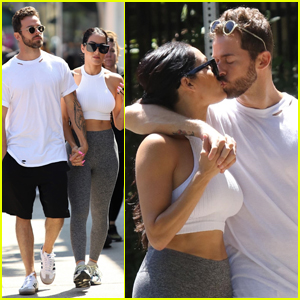 Nikki Bella & Artem Chigvintsev Share a Kiss During Day Out in Studio City!