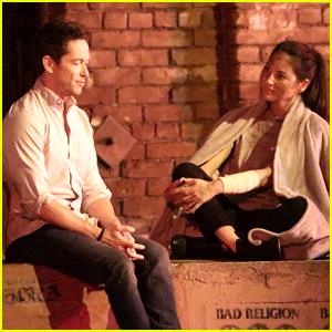 Olivia Munn Films 'Violet' Movie Alongside Simon Quarterman