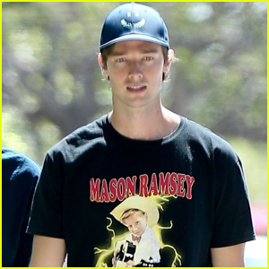 Patrick Schwarzenegger Meets Up with a Friend in Los Angeles