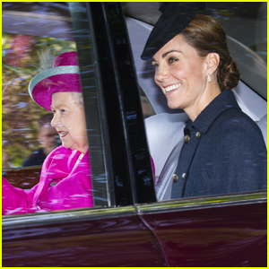 Kate Middleton & Prince William Accompany Queen Elizabeth to Church in Scotland