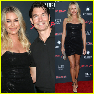 Rebecca Romijn & Jerry O'Connell Couple Up for 'Satanic Panic' Premiere