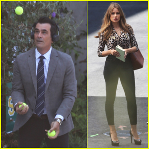 Ty Burrell Does Some Juggling