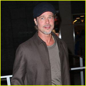 Brad Pitt Attends Opening Night of 'A Play is a Poem' in L.A.